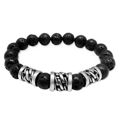 3 Metal Bead Prayer Bracelet Black Kaps®