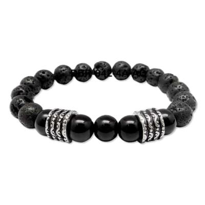 Black Vesuvianite Prayer Bead Bracelet