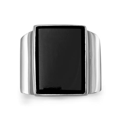 Black Onyx Silver Ring 83347_large