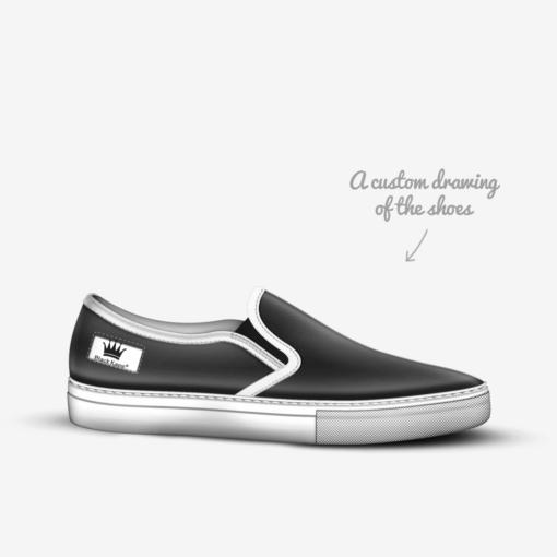 THE EL G - Skater Slip On Sneaker - by Nick Angel - Black Kaps® - Drawing