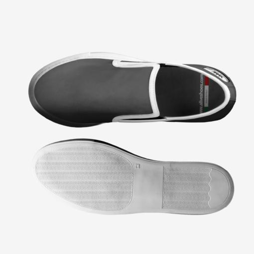 THE EL G - Skater Slip On Sneaker - by Nick Angel - Black Kaps® - Top Bottom
