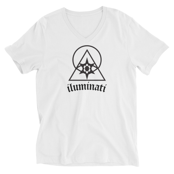 The Iluminati V-Neck T-Shirt by Black Kaps® in White
