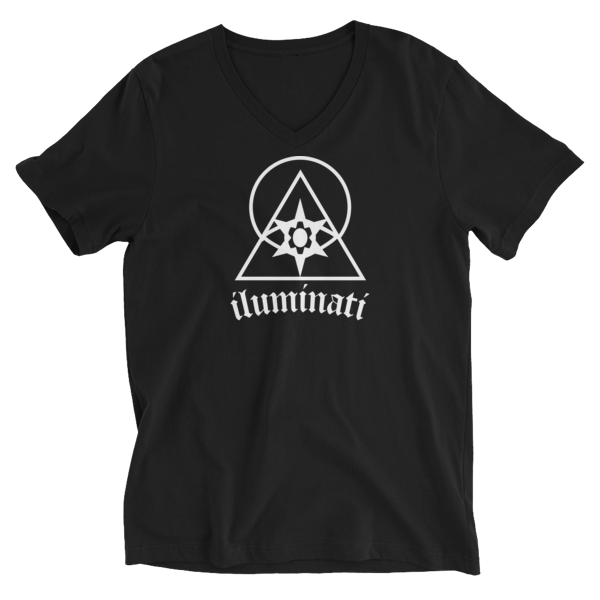 The Illuminati V-Neck T-Shirt by Black Kaps® in Black