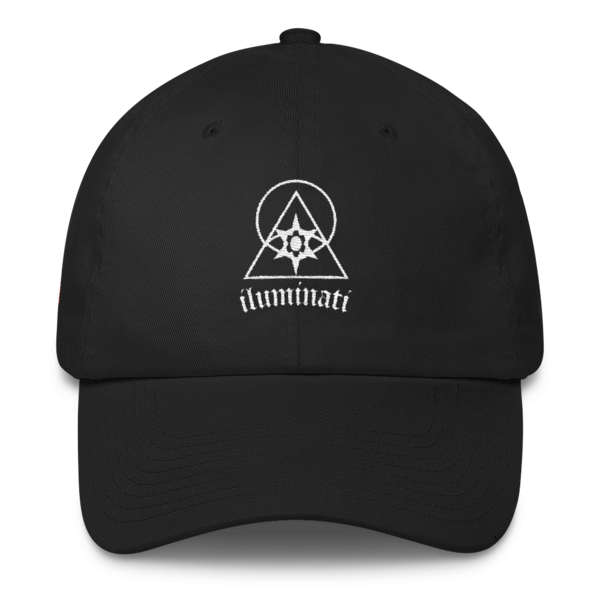 The Illuminati Black Unstructured Hat - by Black Kaps®