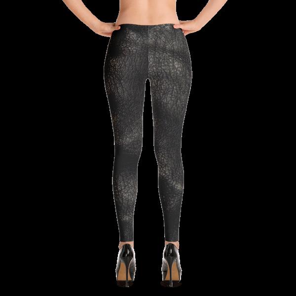 20552d952c75 Hot Pants Leather Print Yoga Leggings By Black Kaps Blackkaps