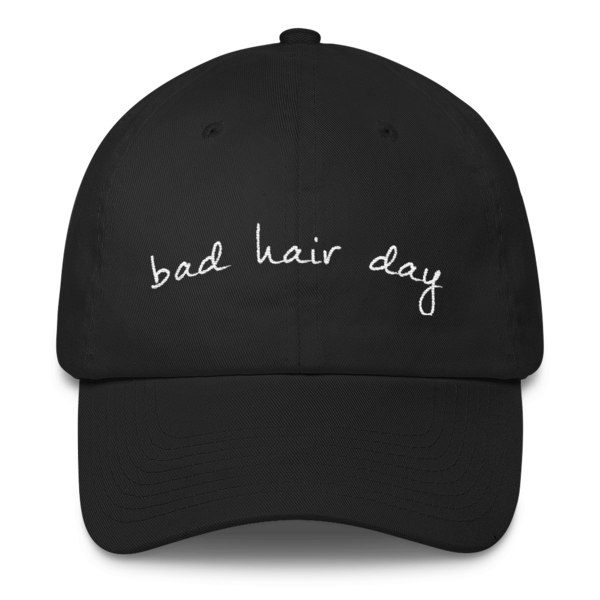 The Bad Hair Day Unstructured Black Hat - by Black Kaps®