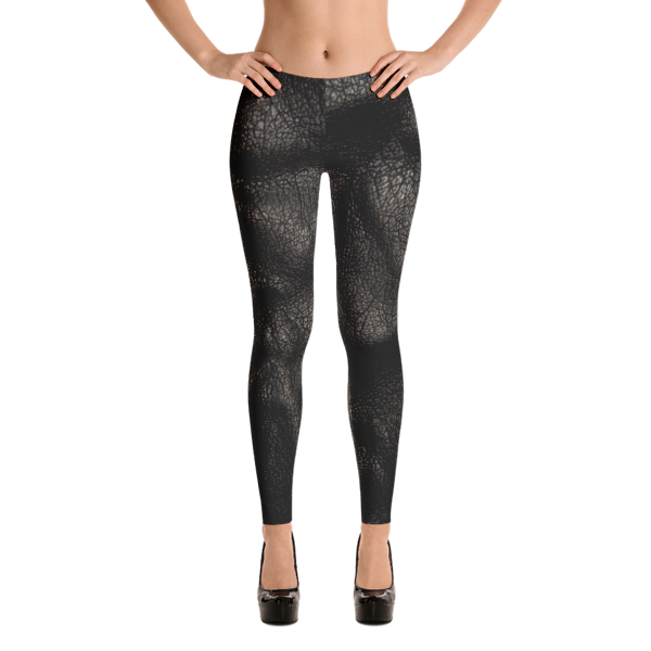 Hot Pants - Leather Print Yoga Leggings by Black Kaps®