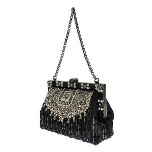 BlackKaps.com Black Kaps - Dolce & Gabanna - Black Silk Vanda Evening Bag - 2:3