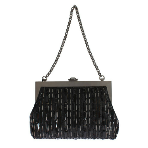BlackKaps.com Black Kaps - Dolce & Gabanna - Black Silk Vanda Evening Bag - Back