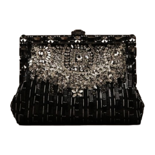 BlackKaps.com Black Kaps - Dolce & Gabanna - Black Silk Vanda Evening Bag - Clutch