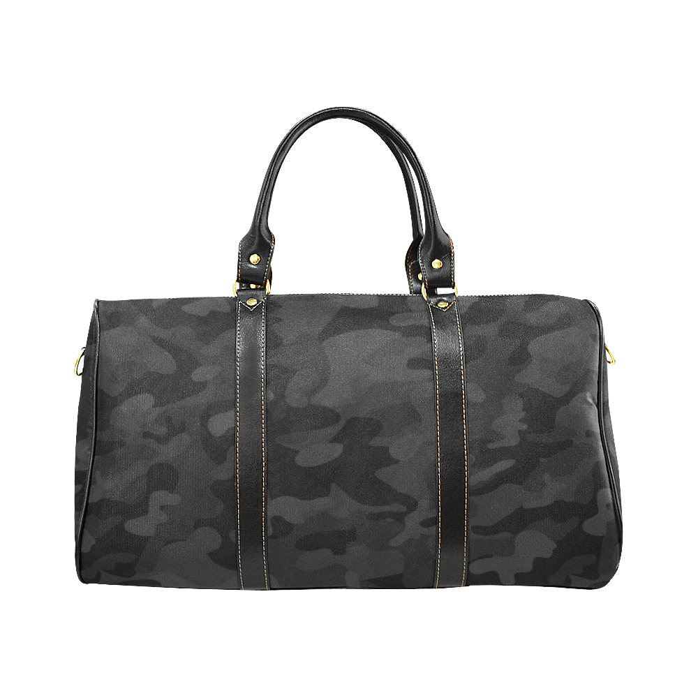 The Alexander - Large Lux Bandoulière Bag in Urban Camo - Black Kaps