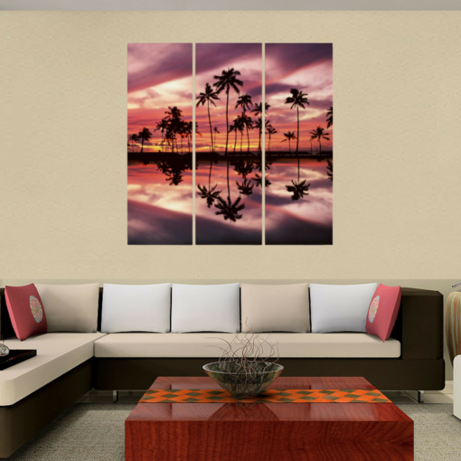 BlackKaps.com Black Kaps - Maui Sunset - Tryptych - Displayed