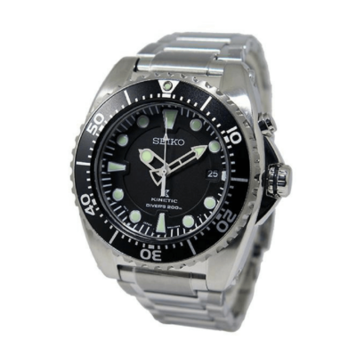 BlackKaps.com Black Kaps Seiko Kinetic 200m Divers Watch