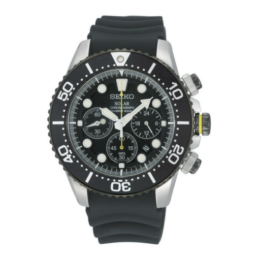 BlackKaps.com Black Kaps - Seiko Solar Divers - Watch - Straight Front