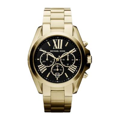 BlackKaps.com - Michael Kors - Bradshaw Watch - Black & Gold - Front