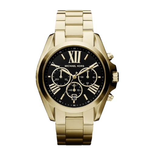 BlackKaps.com - Michael Kors - Bradshaw Watch - Black & Gold - Front