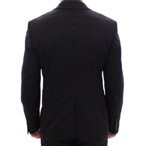 BlackKpas.com Black Kaps - Balmain - Black Two Button Blazer w Vest - Back