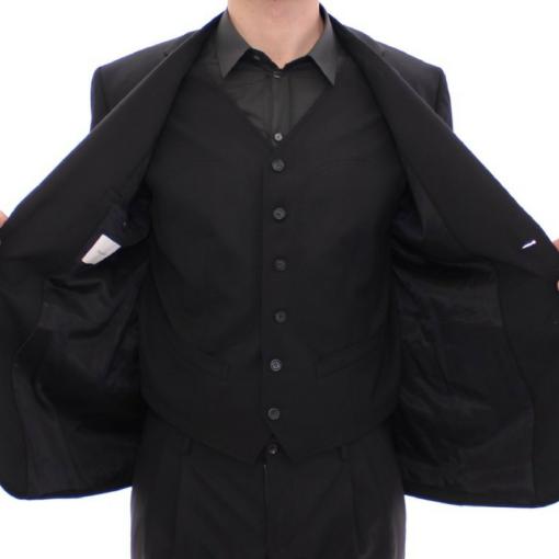 BlackKpas.com Black Kaps - Balmain - Black Two Button Blazer w Vest - Opened