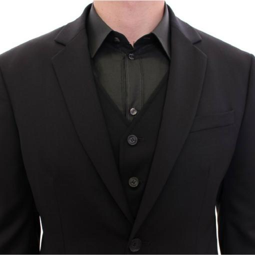 BlackKpas.com Black Kaps - Balmain - Black Two Button Blazer w Vest - Top