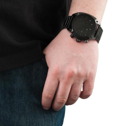Diesel Black Chronograph Watch - Blacks Kaps - On Wrist