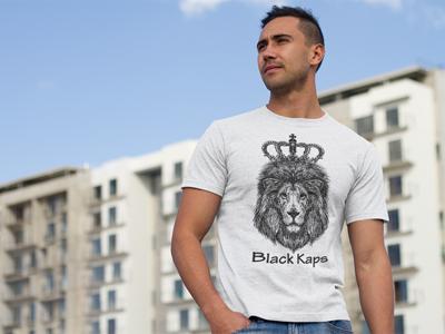 Lion King Black Kaps Heather Tshirt