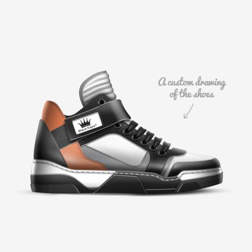 The EL G - Sneaker - by Nick Angel - Black Kaps® - Custom Drawing
