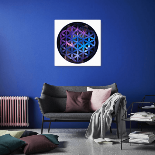 The Universe is Watching 16x16 Canvas Print by Nick Angel - Black Kaps - Sofa
