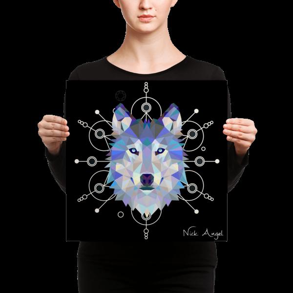 Lazer Wolf - Print on Canvas 16x16