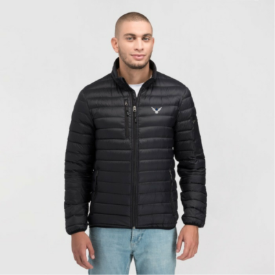 AngelWear.co Angel Wear - Angel Whistler Down Jacket - Black - Front Model