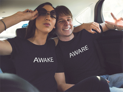 BlackKaps.com-Black-Kaps---Awake-&-Aware-T-Shirt-Models