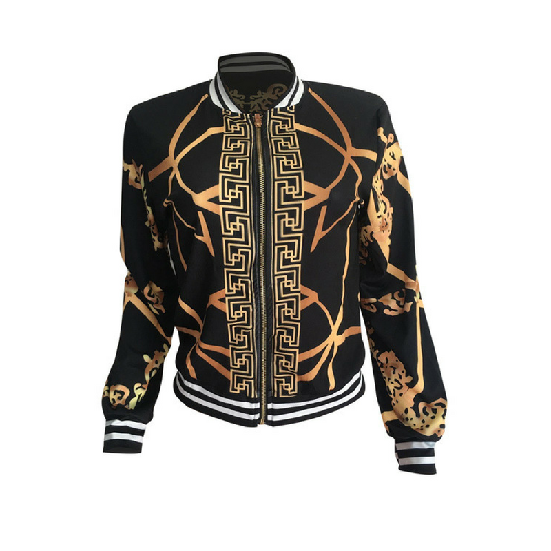 Black & Gold - Women's Jacket
