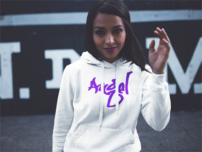 BlackKaps.com Black Kaps - Graffiti ALZ Angel Limited Edition Purple - Hoody