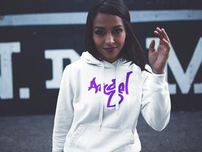 BlackKaps.com Black Kaps - Graffiti ALZ Angel Limited Edition Purple - Hoody
