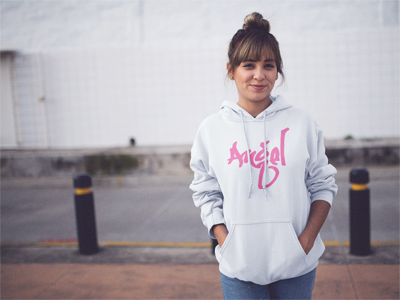 BlackKaps.com Black Kaps - Graffiti Angel SGK Limited Edition Hot Pink Hoody - Lady