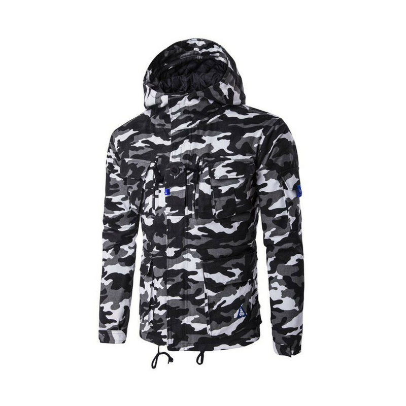 Men's Urban Camouflage Anorak - Black Kaps