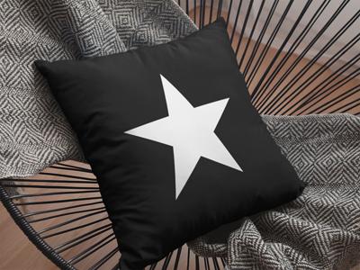 BlackKaps.com black Kaps - Star Throw Pillow