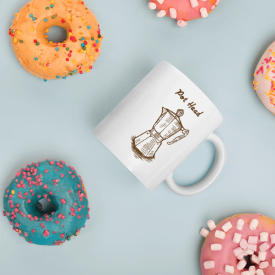 BlackKaps.com Black Kaps - Coffee Mug - Pot Head - Donut Mug Mockup 1000x1000