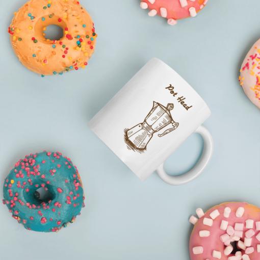 BlackKaps.com Black Kaps - Coffee Mug - Pot Head - Donut Mug Mockup 1000x1000