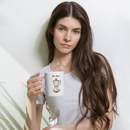 BlackKaps.com Black Kaps - Coffee Mug - Pot Head - Girl Holding Mug Mockup 1000x1000