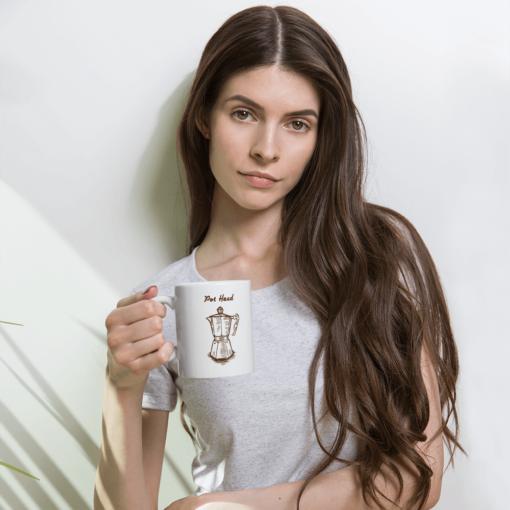 BlackKaps.com Black Kaps - Coffee Mug - Pot Head - Girl Holding Mug Mockup 1000x1000