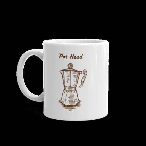 BlackKaps.com Black Kaps - Coffee Mug - Pot Head - Handle on Left Mug Mockup 1000x1000