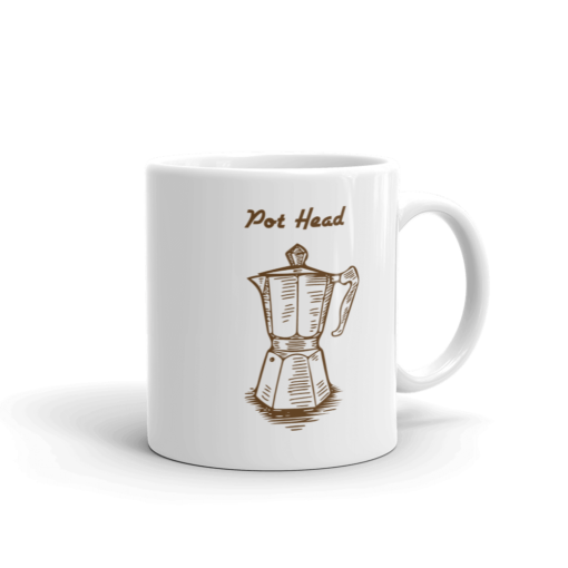 BlackKaps.com Black Kaps - Coffee Mug - Pot Head - Handle on Right Mug Mockup 1000x1000