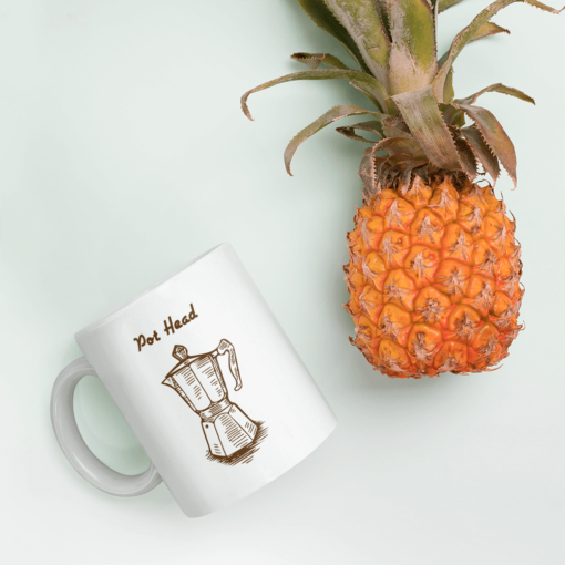 BlackKaps.com Black Kaps - Coffee Mug - Pot Head - Pineapple Mug Mockup 1000x1000