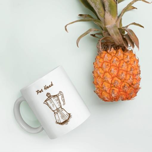 BlackKaps.com Black Kaps - Coffee Mug - Pot Head - Pineapple Mug Mockup 1000x1000