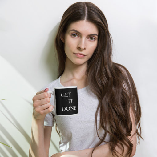 BlackKaps.com - Black Kaps Get It Done Mug - mockup_Woman_Lifestyle_11oz