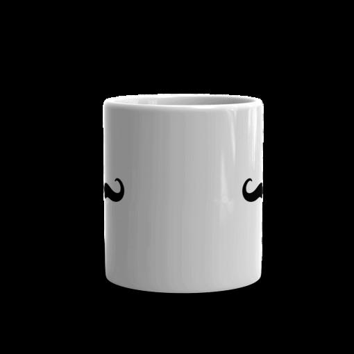 BlackKaps.com Black Kaps - Villain Stache - 11oz Coffee Mug - Front Mockup- 1000x1000