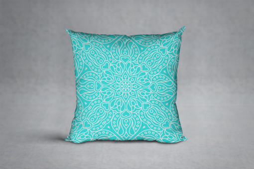 The Maya Accent Pillow in Turquoise 1200x800
