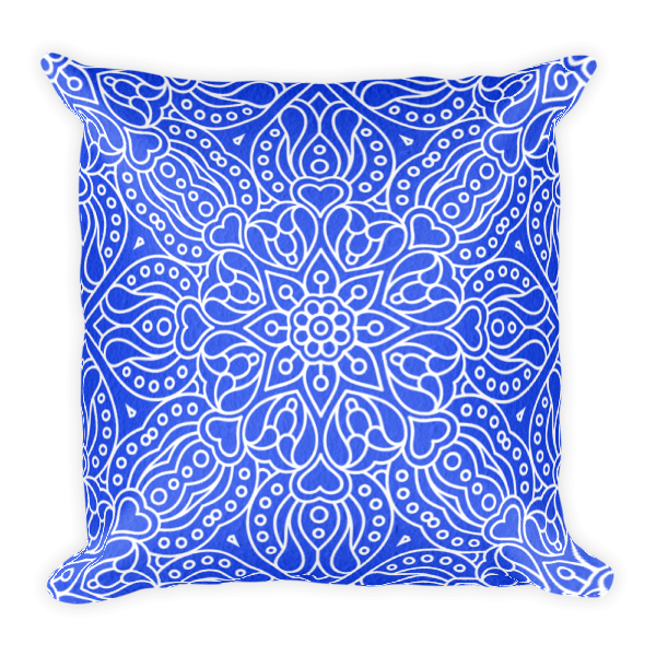The Maya Square Accent Pillow in Royal Blue