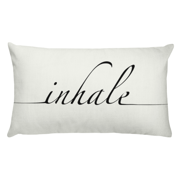 Inhale Rectangular Pillow
