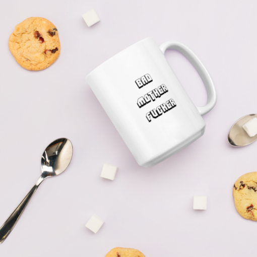 Bad Mofo Mug mockup with cookies